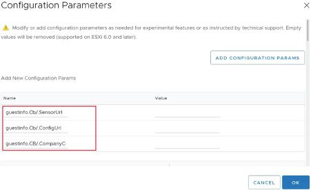 .vmx advance settings screenshot