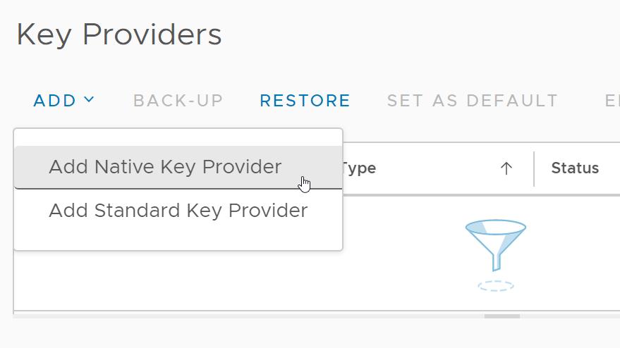 vSphere Native Key Provider